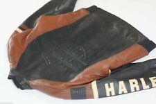 Harley Davidson Hommes Vintage Fabriqué aux USA Cruiser Blouson Gaufrées B&S