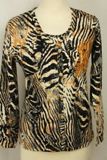 Twinset From Jersey Material Top/Jacket Tiger Print/Glitter by Imagini
