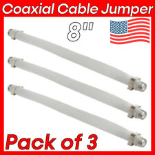 """3 Pcs 8"""" Coaxial F Type Jumper F to F Flat Coax Cable Coupler for Windows Doors"""