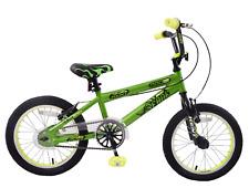 "Kent Fade 16"" Wheel BMX Boys Kids Bike Green/yellow Bicycle Chainguard Age 5"
