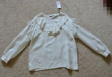SANDRO INDIA RUFFLE TOP WITH PRESS STUDS Size 1 US XS/S