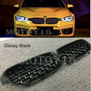 For BMW 3 F30 F31 Black Diamond Metero Front Upper Grill Grille 320i 320d 12-18