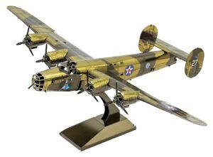 🇬🇧B-24 Liberator. 3D Coloured Metal Puzzle.