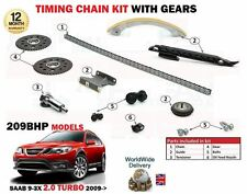 FOR SAAB 9-3X 2.0 TURBO 209BHP 2009-  TIMING CHAIN KIT WITH GEARS 17 PIECE SET
