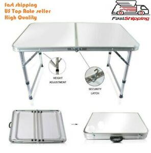 Portable Indoor Outdoor Aluminum Folding Table 4' Picnic Party Camping US seller
