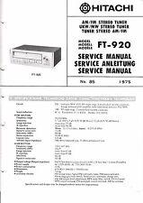 Service Manual-Anleitung für Hitachi FT-920
