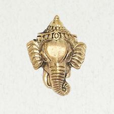 Lord Ganesha Head-Brass Hindu Gold Religion India Elephant Pendant Jewelry