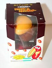 "Japanese Chocoball Bird Ink Stamper Sega 3"" Anime Figure New NOS Brown Bowtie"