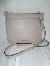 FOSSIL JULIA CROSSBODY MINERAL GRAY GREY LEATHER HANDBAG SHB1382055 SHOULDER BAG