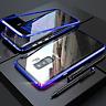 COVER per Samsung Galaxy S9 S8 S7 Plus Note 8 9 MAGNETICA RETRO VETRO TEMPERATO