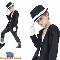 KIDS MICHAEL JACKSON SUPERSTAR  - Age 3-10 -  Boys Childs Fancy Dress Costume