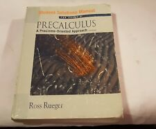 PRECALCULUS STUDENT SOLUTIONS MANUAL 6th Edition Rueger Cohen Math BOOK