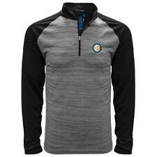 Inter De Milán Manga Larga Camiseta Polo Negro Heather Pequeño-Xxl Licencia Oficial