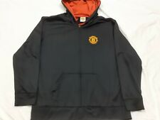 Men's Manchester United Soccer Club Futbol Full Zip Red Black Jacket Size XL