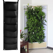 7 Pocket Vertical Garden Wall Planter Hanging Planting Bag Herb Wall-mounted NEW