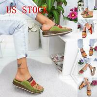 NEW Summer 2019 Women Chic Three-color stitching Sandals Open Toe Sandals USA