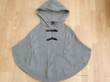 MOSSIMO DUTTI Ladies Angora Cashmere Woollen Hooded Poncho @ Size S Small
