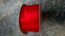 5 metres of 7mm ( 1/4 inch ) Red ribbon