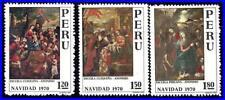 Peru 1970 Christmas / Paintings Mnh Religion