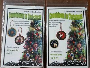 Pine Mountain Pillow Kit Countdown to Christmas Kits Cross Stitch Holiday