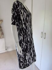 Warehouse bodycon stretch charcoal grey/black petite  dress Size M RRP £35