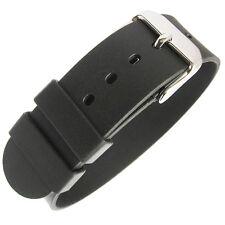 20mm Bonetto Cinturini Italy 298 1-Pc Black Rubber UTC G10 Dive Watch Band Strap