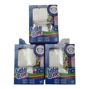 Baby Alive Diapers Refill Pack 3 boxes 18 Diapers Total FAST FREE SHIPPING