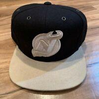 NHL Mitchell & Ness NHL New Jersey Devils Strapback Hat Cap Suede Brim
