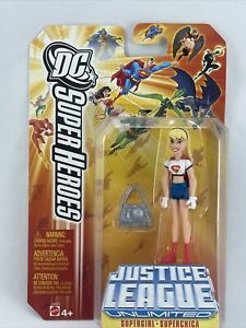 DC Super Heroes Justice League Unlimited Supergirl W/ Accessory Mattel Cartoon