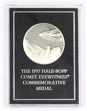 1997 Franklin Mint Hale-Bopp Comet Proof Commemorative Medal Sterling Silver Ogp