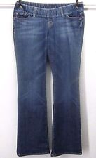 LUCKY LIL MAGGIE MATERNITY WOMEN'S (M) 36/32 BOOT FLAP POCKET BLUE STRETCH JEANS