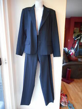 Pre-Owned Rafaella Womens Suit Jacket Size 16 Blue with Purple Lines Jacket Only