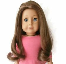 "Custom Doll Wig 10-11"" Brown Fits American Girl Doll Rebecca Marie-Grace JLY 23"