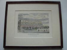 Colorierte litografía, la alsterarkaden en hamburgo, enmarcada hamburgensie