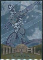 1995 Marvel Metal Silver Flasher Trading Card #18 Silver Surfer