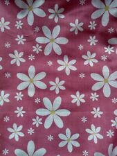 2m PINK, FLORAL, FLOWER, fabric, cotton mix sold/PER METRE/