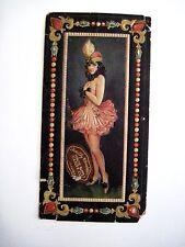 Adorable Vintage 6.1ms Candy Caja Arriba con / Bonito Niña / Hermoso Sombrero