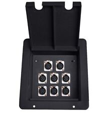 Elite Core Fb8 Recessed Metal Stage Audio Pocket Floor Box w/8 Xlr Female Plugs