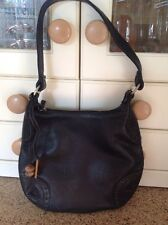 GREAT HIDESIGN BLACK LEATHER SMALL SHOULDER BAG BARELY USED GOOD CONDIITON