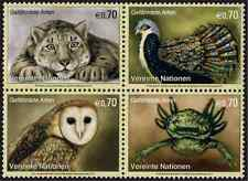 Timbres Animaux Nations Unies Vienne 757/60 ** année 2012 lot 21969
