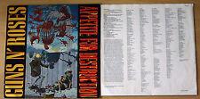 EX! GUNS N' ROSES Appetite For Destruction 1987 VINYL LP Original BANNED sleeve