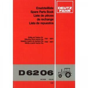 Deutz Fahr Schlepper D6206 - Traktor Ersatzteilliste