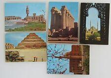 5 x Ägypten Postkarten Egypt Postcards ua. Ramses Square Kairo, Luxor Tempel