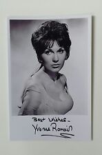 """HAMMER HORROR - Actress Yvonne Romain Reproduced Autograph 6""""X4"""" Glossy Pic"""