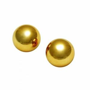 Sirs 1 Inch Golden Benwa Balls Kegel Exerciser Sex Toy Anal Vaginal