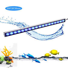54W led aquarium light strip bar blue 470nm spectrum fish tank reef coral growth