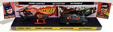CORGI Juniors BATMAN BATMOBILE & BATCOPTER on Custom 267 Display Stand