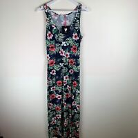 V by Very Channel Waist Maxi Dress Tropical Floral Summer Print UK12 RRP£20