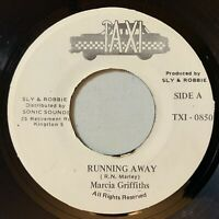 Marcia Griffiths - Running Away 45 Taxi Digi Roots Soul Reggae VG+ mp3