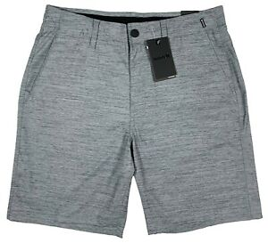 "Men's HURLEY Heather Gray Nike Dri-Fit Shorts 20"" Length Stretch 34 NWT NEW NiCe"